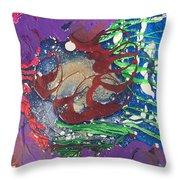 Nail Polish Abstract 15-s11 Throw Pillow