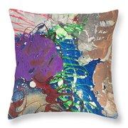 Nail Polish Abstract 15-t11 Throw Pillow