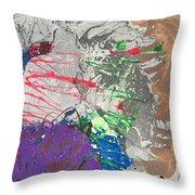 Nail Polish Abstract 15-u11 Throw Pillow