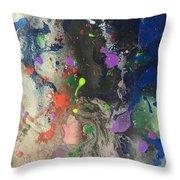 Nail Polish Abstract 15-w11 Throw Pillow