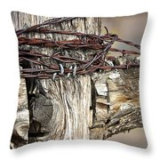 Nails And Wire Throw Pillow