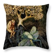 Naked And Afraid Throw Pillow