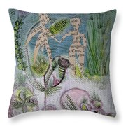 Naked Garden I Throw Pillow