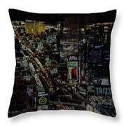 Naked Moon Over The Strip Throw Pillow