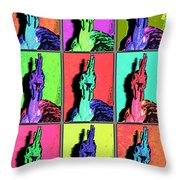 Naked Neck Rooster Warhol Style Throw Pillow