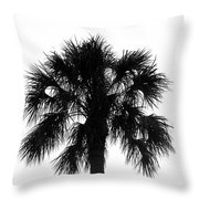 Naked Palm Throw Pillow