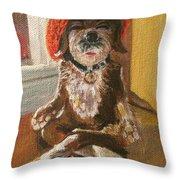 Namaste Dog Throw Pillow