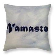 Namaste' Throw Pillow