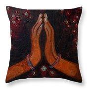 Namaste With Joy Throw Pillow