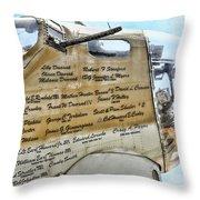 Names On B-17 Throw Pillow