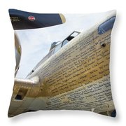 Names Pilots B-17 Throw Pillow
