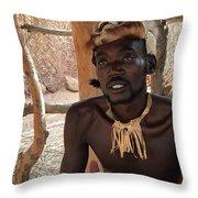 Namibia Tribe 2 - Chief Throw Pillow
