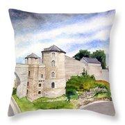 Namur, Citadelle Et Pont Des Hollandais Throw Pillow
