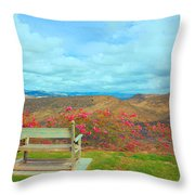 Nancy And Ronnie For Ever Throw Pillow