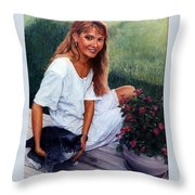 Nancy And Tiffany Throw Pillow