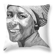 Nanna Smiles Throw Pillow