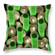 Nanoparticle Trapping, Nanotechnology Throw Pillow