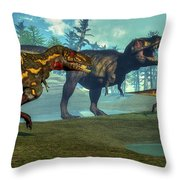 Nanotyrannus Hunting A Small Throw Pillow