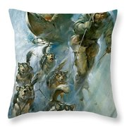 Nansen Conqueror Of The Arctic Ice Throw Pillow by James Edwin McConnell