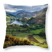Nant Gwynant Valley Throw Pillow
