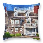Nantucket Architecture Series 28 Throw Pillow