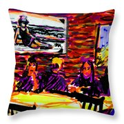 Nantucket Arno's  Throw Pillow