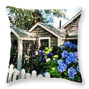 Nantucket Cottage No.1 Throw Pillow
