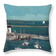 Nantucket Harbor Throw Pillow
