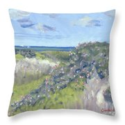 Nantucket June Dunes I Throw Pillow