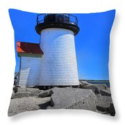 Nantucket Lighthouse Y1 Throw Pillow