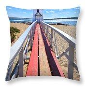 Nantucket Lighthouse - Y2 Throw Pillow