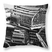 Nantucket Lobster Traps Throw Pillow