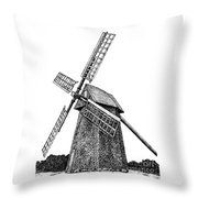 Nantucket Windmill Number One Throw Pillow