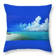 Nap On The Beach Throw Pillow