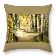 Nap Time On A Fall Day Throw Pillow