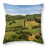 Napa Valley California Panoramic Throw Pillow