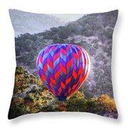 Napa Valley Morning Balloon Throw Pillow