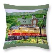 Napa Wine Train Throw Pillow