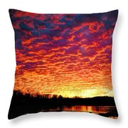 Napalm Clouds Throw Pillow