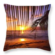 Napili Bay Sunset Maui Hawaii Throw Pillow