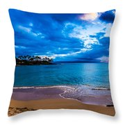 Napili Bay Sunset Panorama Throw Pillow