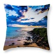 Napili Bay Sunset Panorama Throw Pillow