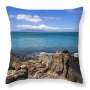 Napili Bay With Lanai Throw Pillow