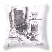 Naples 5th Ave Corner Throw Pillow