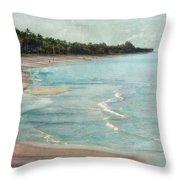Naples Beach Throw Pillow