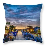 Naples Canal Christmas 6 Throw Pillow