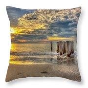 Naples Florida Sunset Throw Pillow