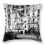 Naples Italy - C 1901 Throw Pillow
