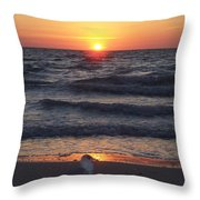 Naples Sunset 0042 Throw Pillow
