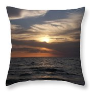 Naples Sunset 0043 Throw Pillow